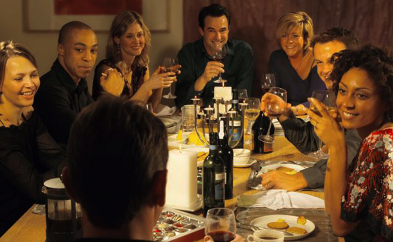 People enjoying a wine tasting tour